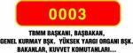 başkbakanlık araç plakası