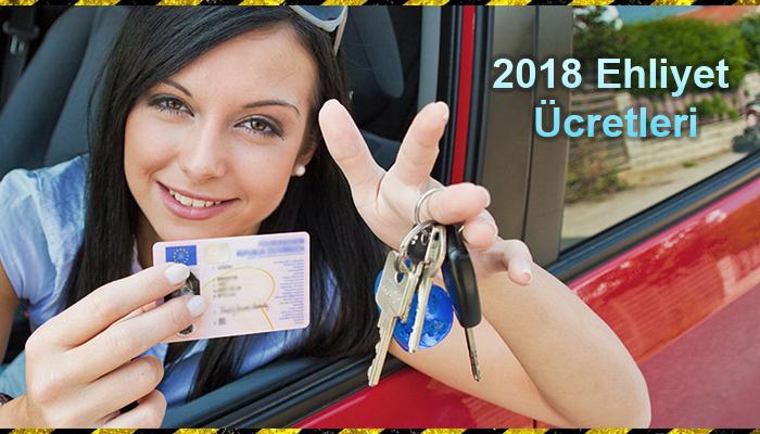 2018 yılı ehliyet ücretleri