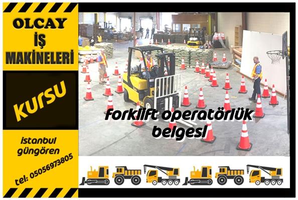 Forklift operatörlük belgesi